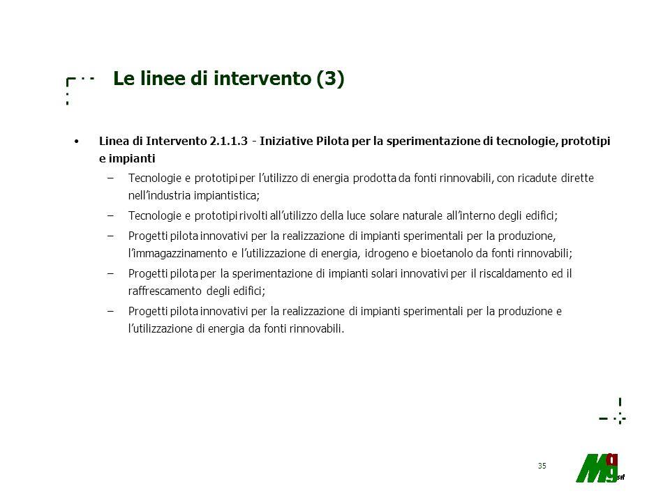 Le linee di intervento (3)
