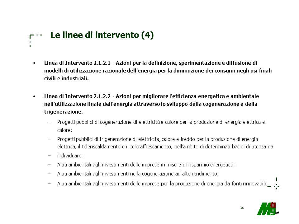Le linee di intervento (4)