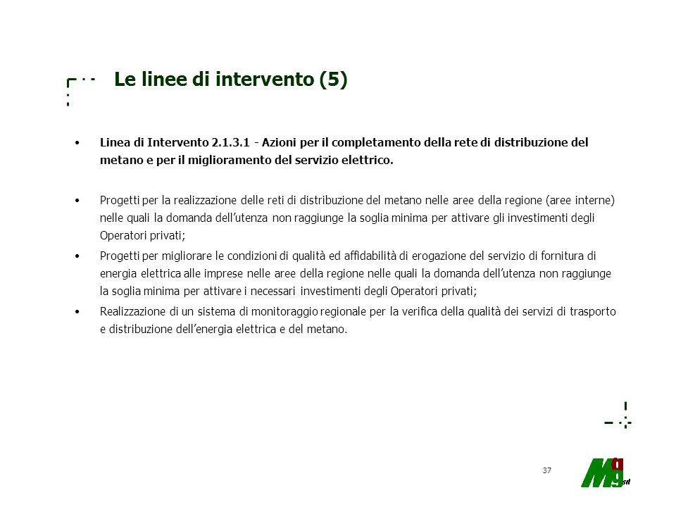 Le linee di intervento (5)