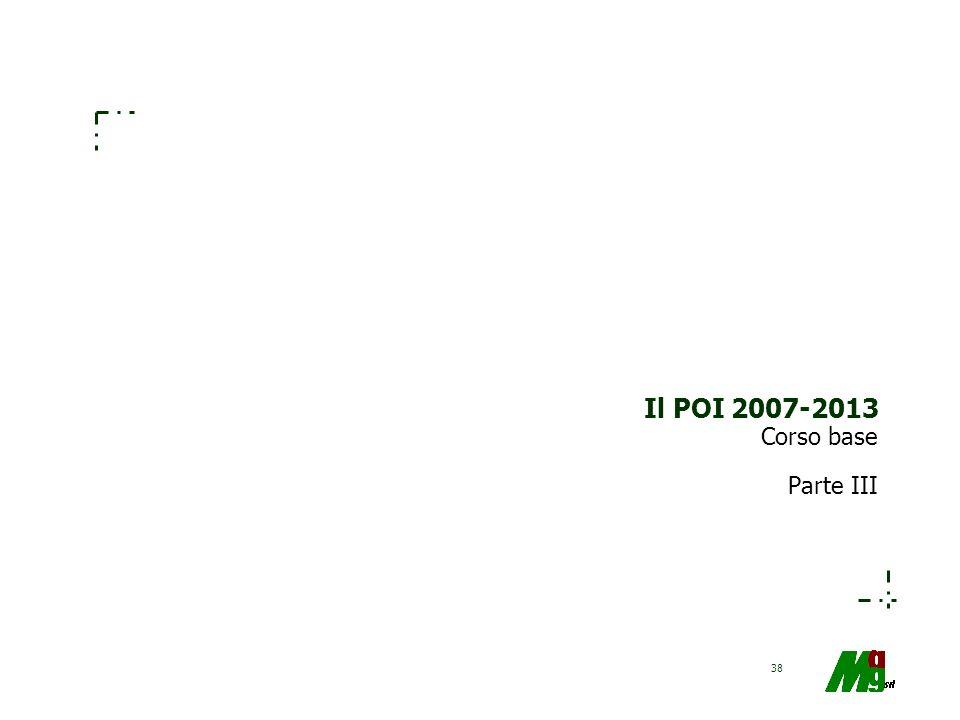 Il POI 2007-2013 Corso base Parte III