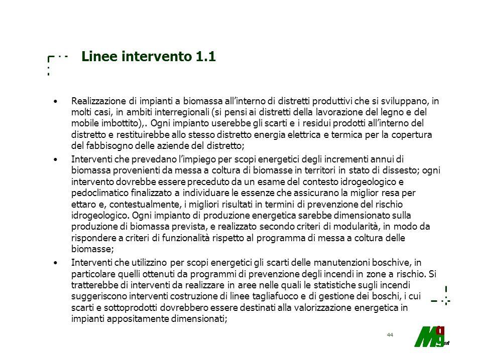 Linee intervento 1.1
