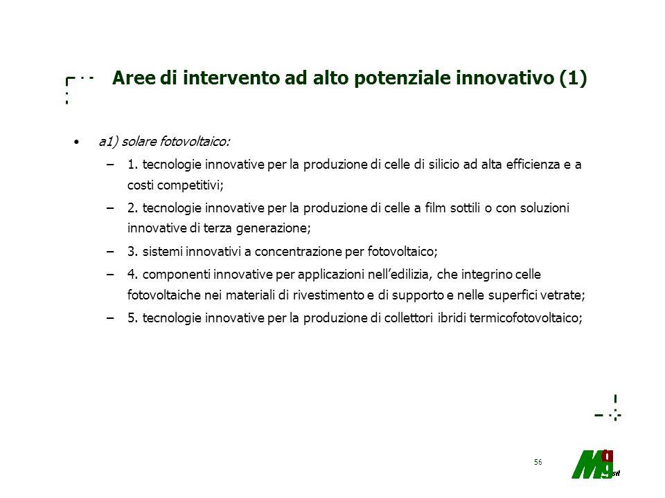Aree di intervento ad alto potenziale innovativo (1)