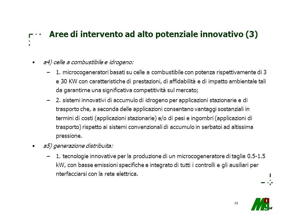 Aree di intervento ad alto potenziale innovativo (3)