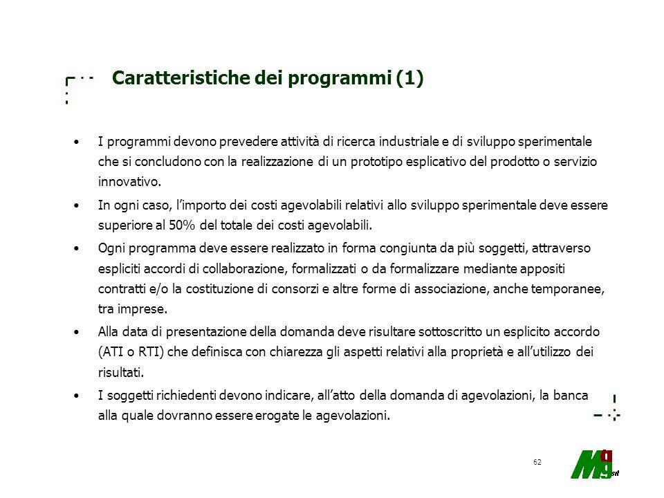 Caratteristiche dei programmi (1)