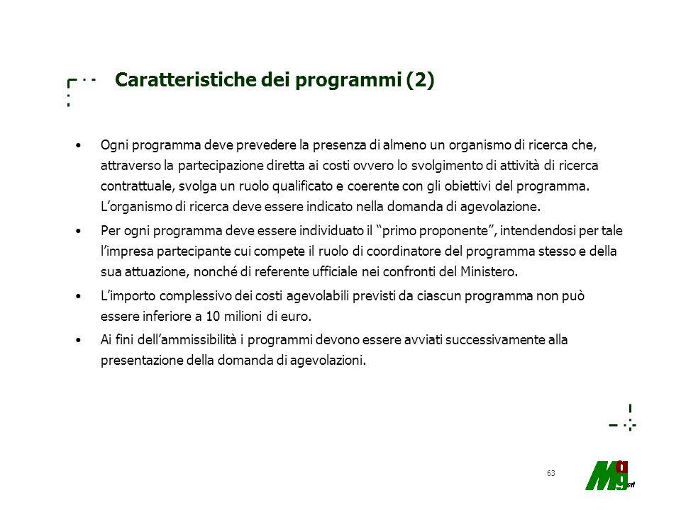 Caratteristiche dei programmi (2)