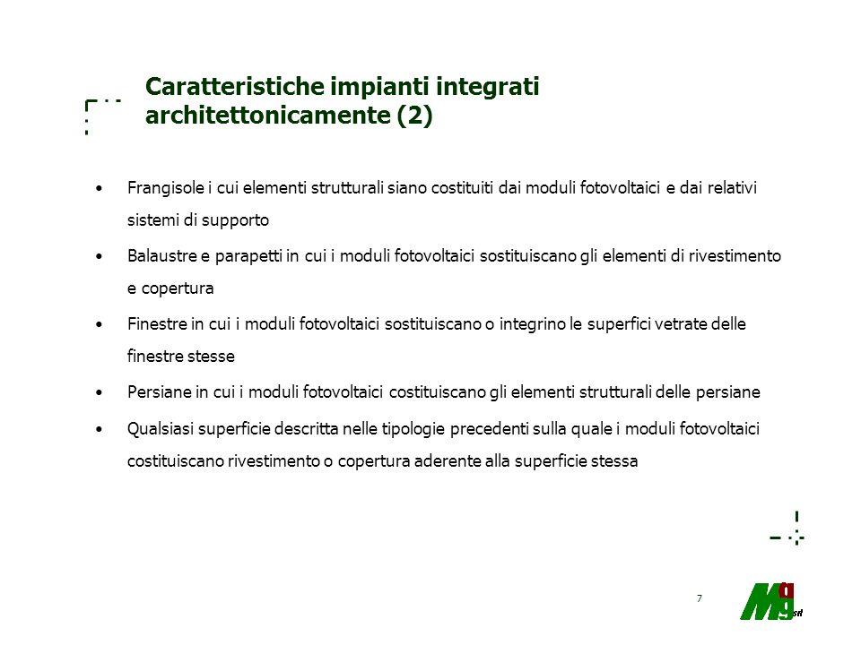 Caratteristiche impianti integrati architettonicamente (2)