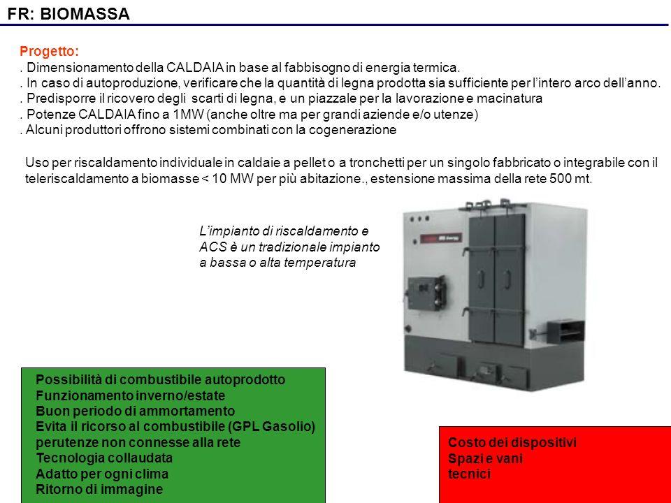 FR: BIOMASSA Progetto: