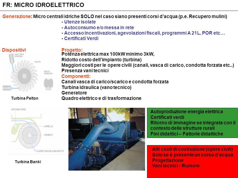 FR: MICRO IDROELETTRICO