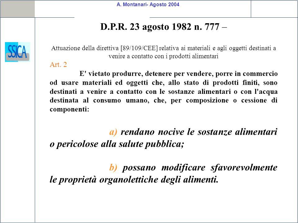 D.P.R. 23 agosto 1982 n. 777 –