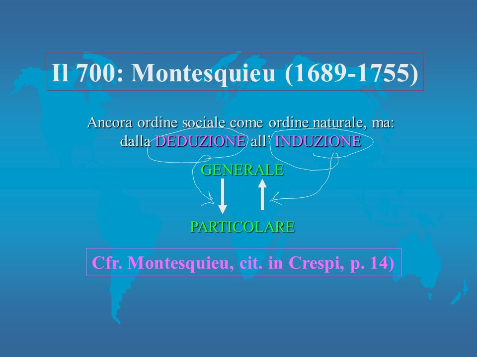 Cfr. Montesquieu, cit. in Crespi, p. 14)