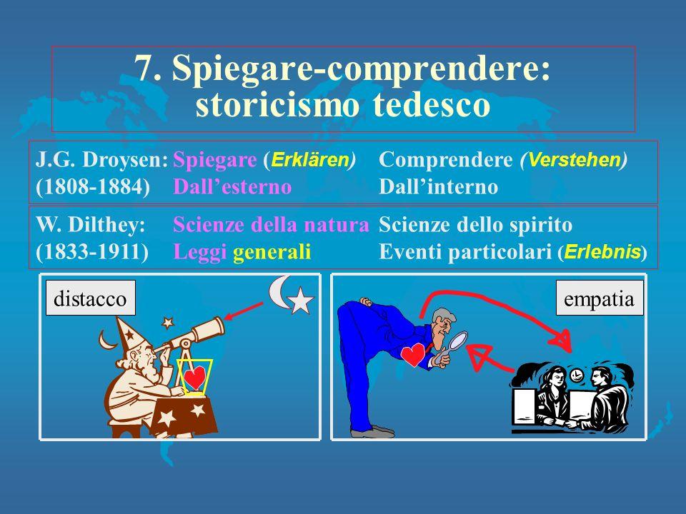 7. Spiegare-comprendere: storicismo tedesco