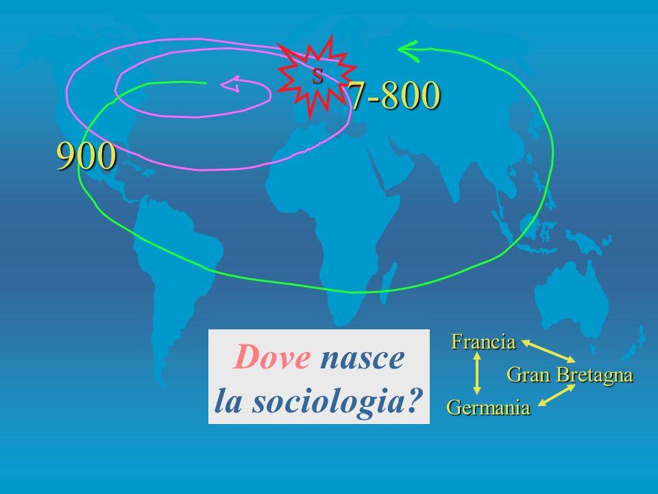 S 7-800 900 Francia Germania Gran Bretagna Dove nasce la sociologia
