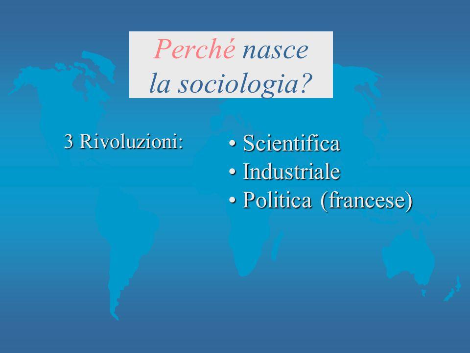Perché nasce la sociologia