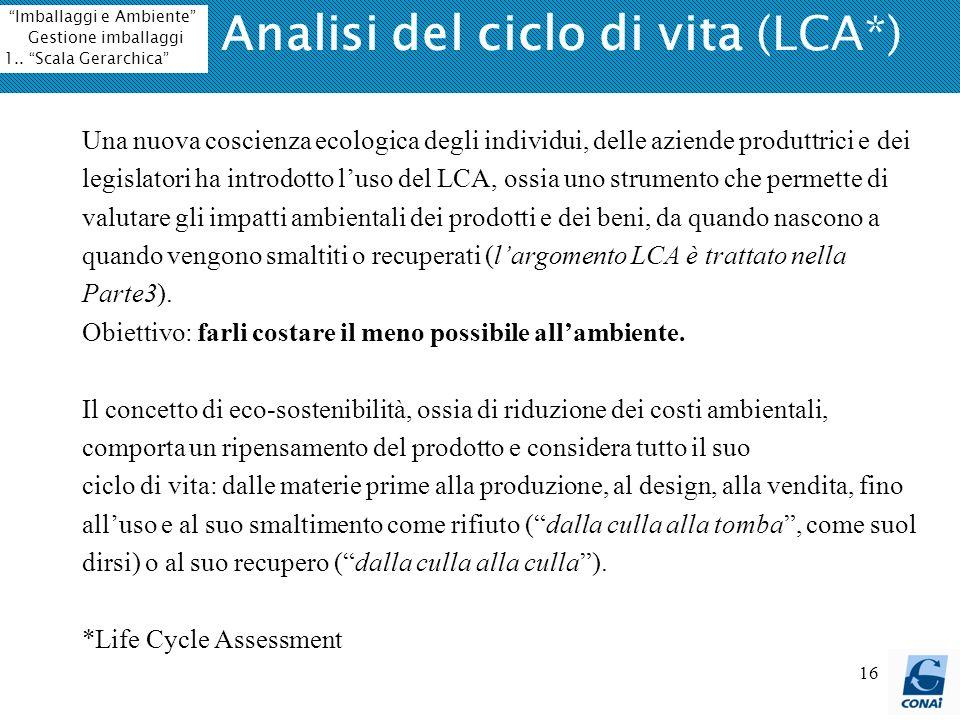 Analisi del ciclo di vita (LCA*)
