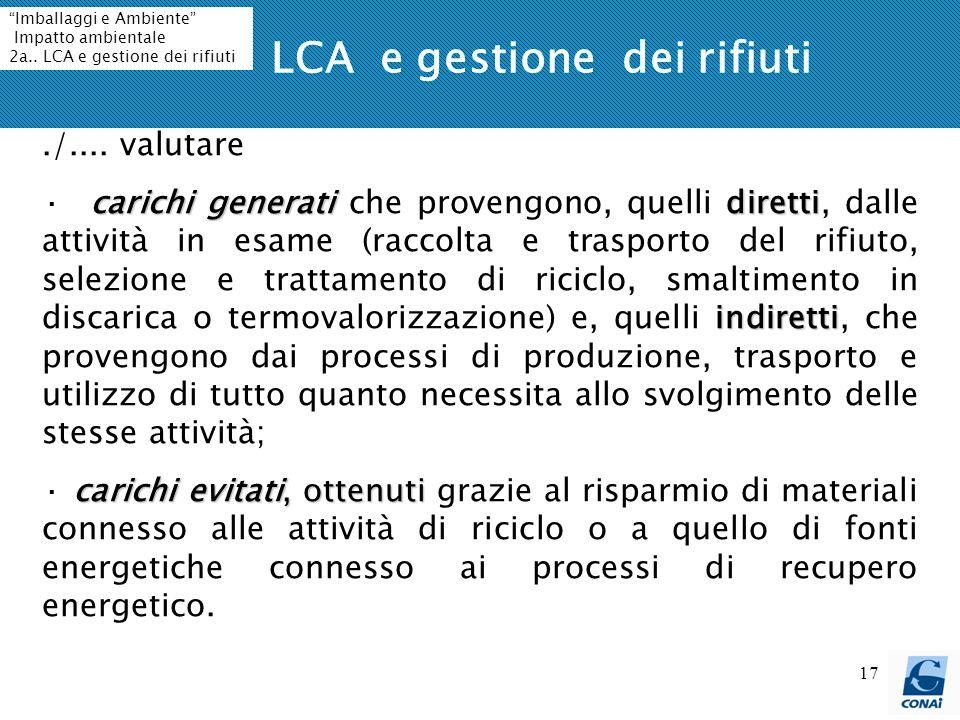 LCA e gestione dei rifiuti