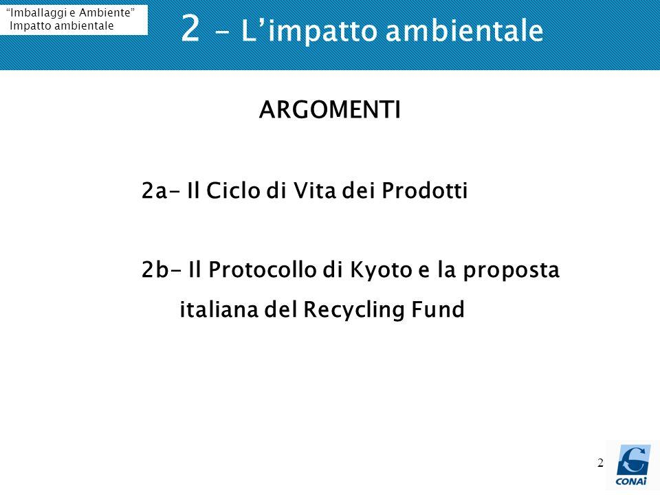 2 - L'impatto ambientale