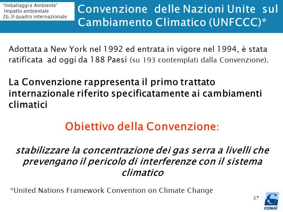 La Convenzione delle Nazioni Unite sul Cambiamento Climatico (UNFCCC)*