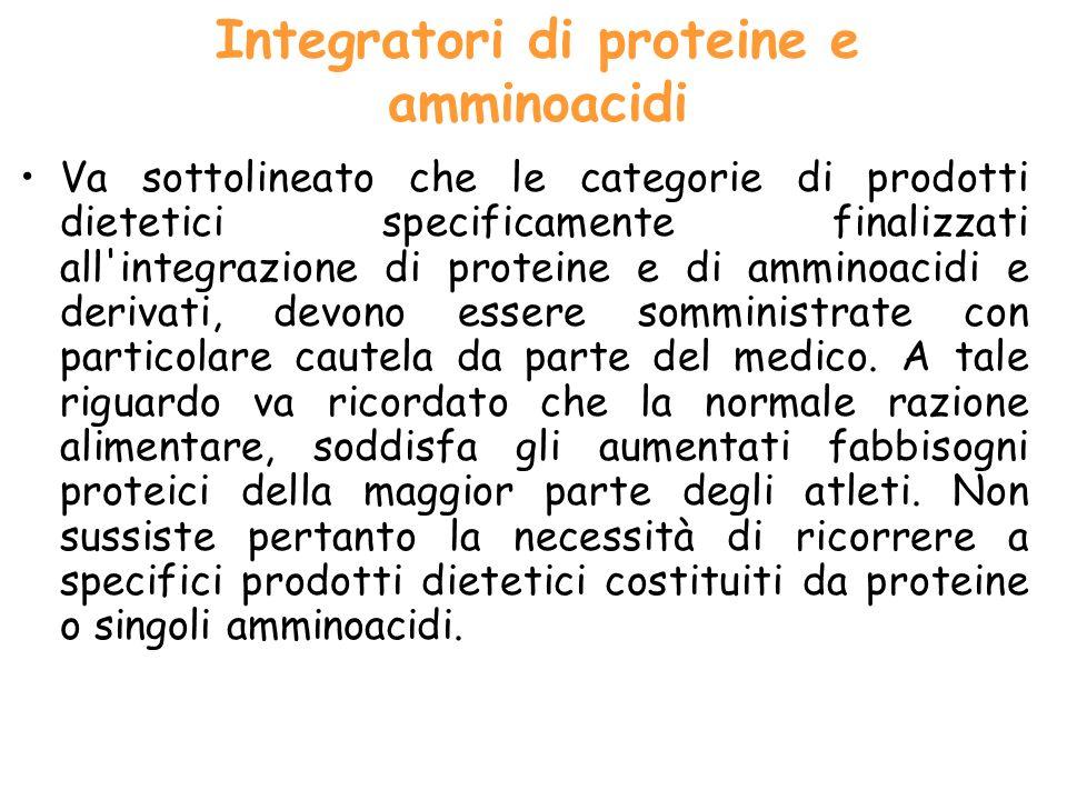Integratori di proteine e amminoacidi