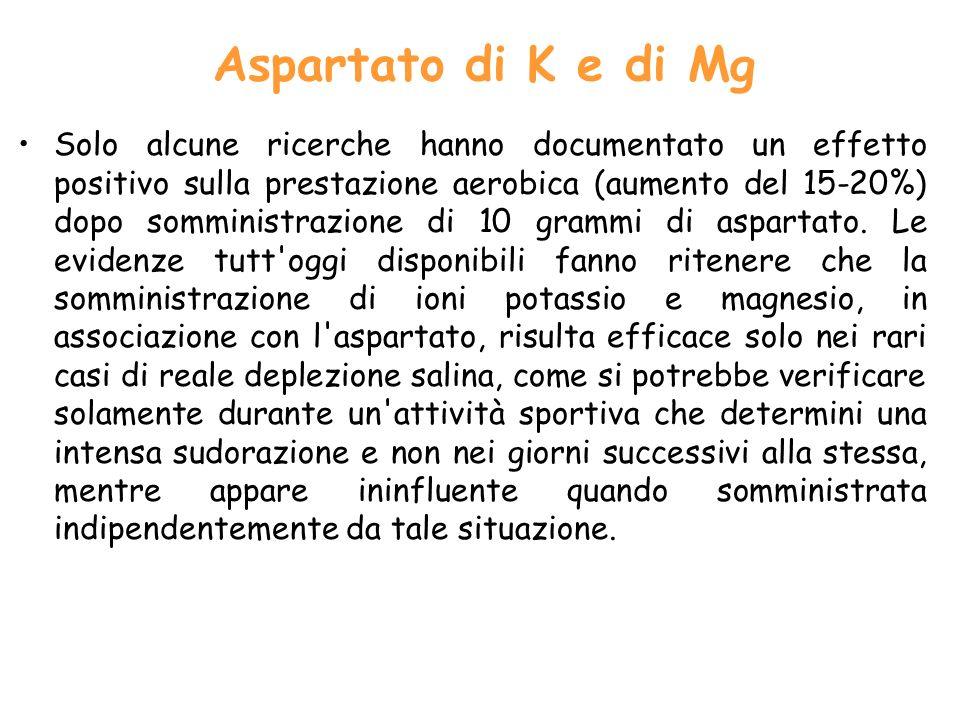 Aspartato di K e di Mg