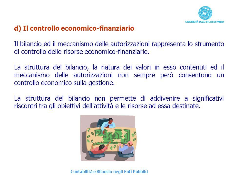 d) Il controllo economico-finanziario