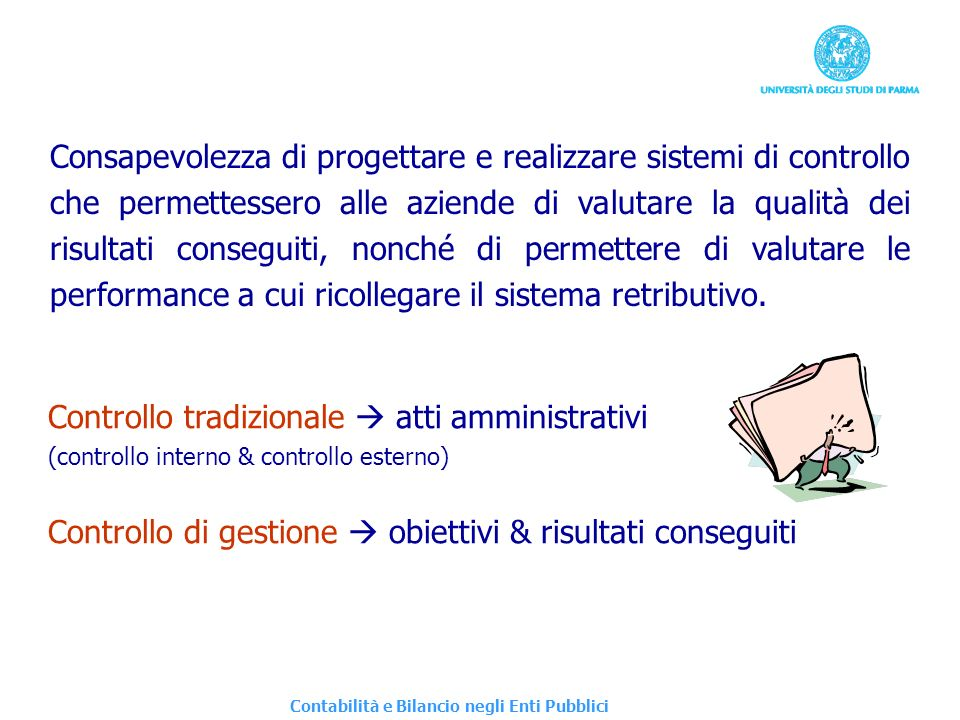 Controllo tradizionale  atti amministrativi