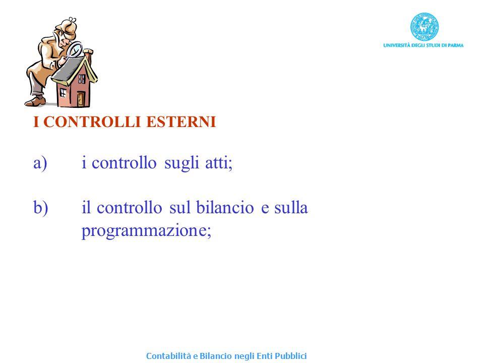 a) i controllo sugli atti;