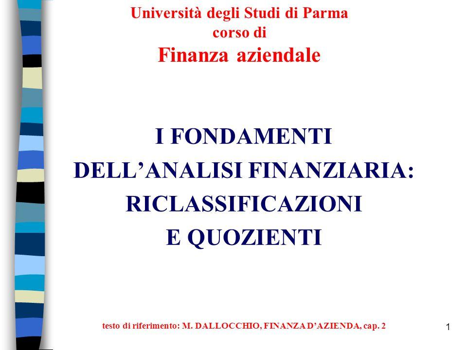 Università degli Studi di Parma corso di Finanza aziendale