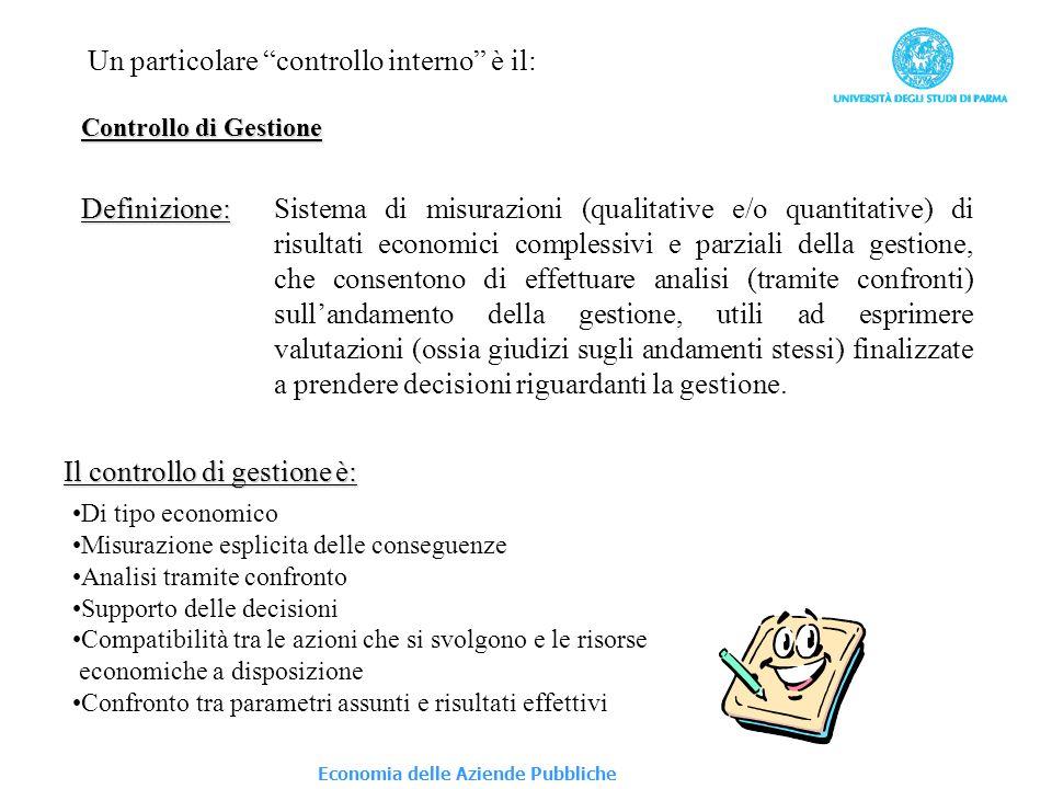 Un particolare controllo interno è il: