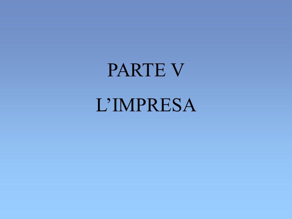 PARTE V L'IMPRESA