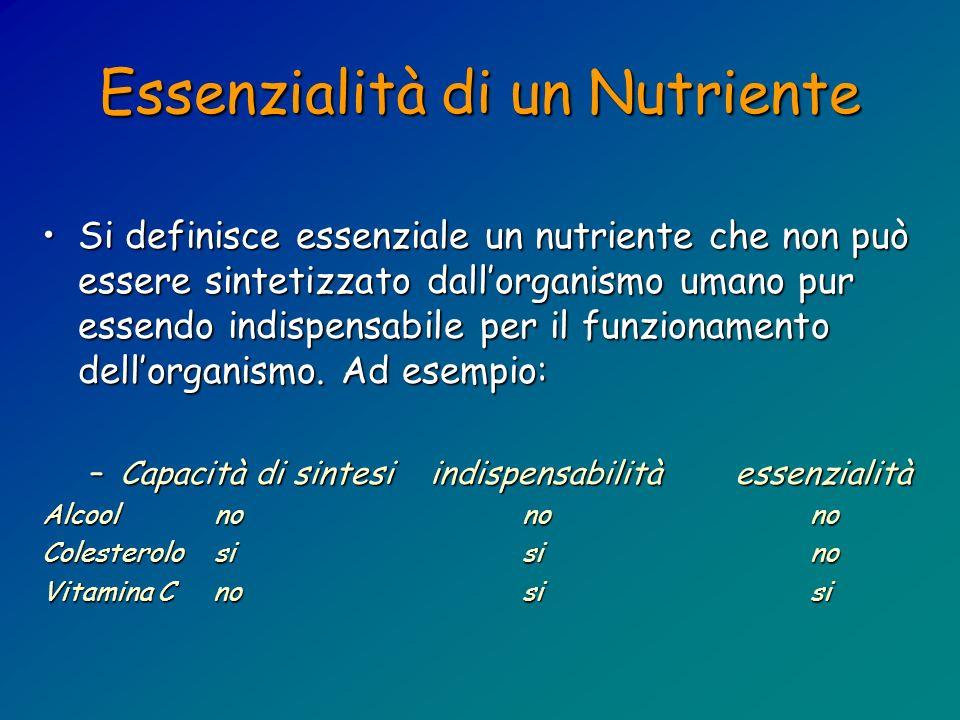 Essenzialità di un Nutriente