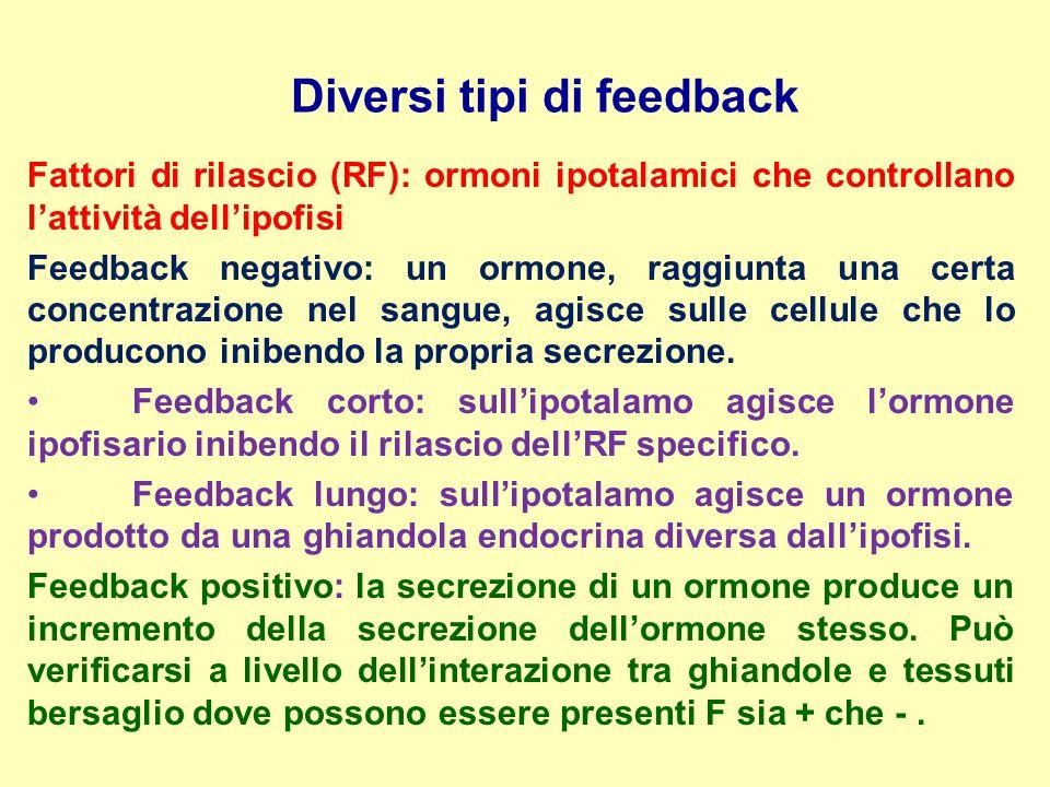 Diversi tipi di feedback