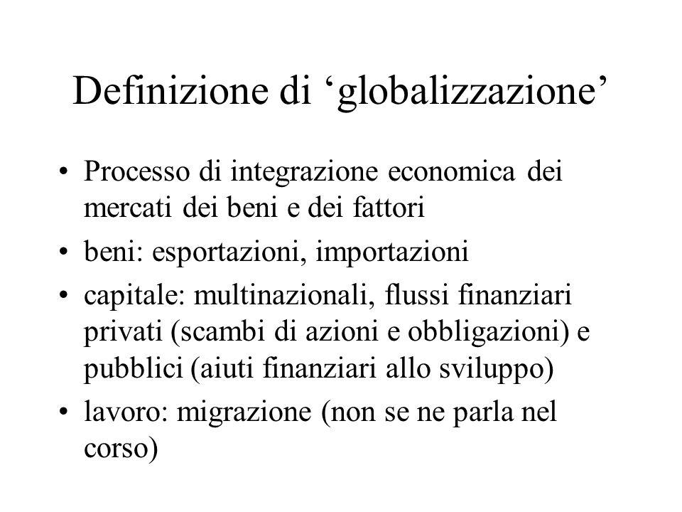 Definizione di 'globalizzazione'