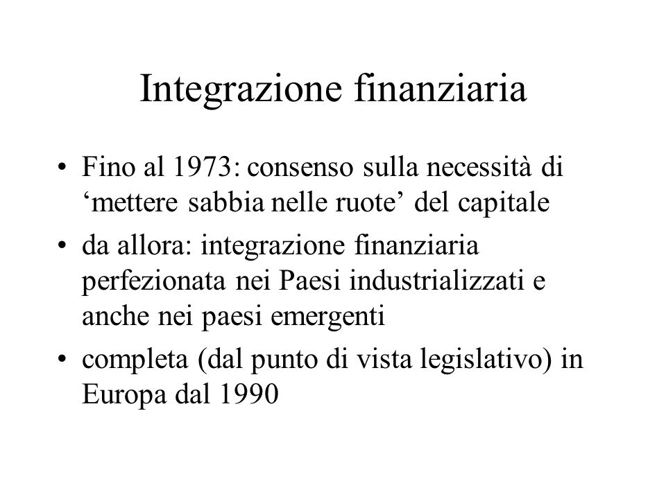 Integrazione finanziaria