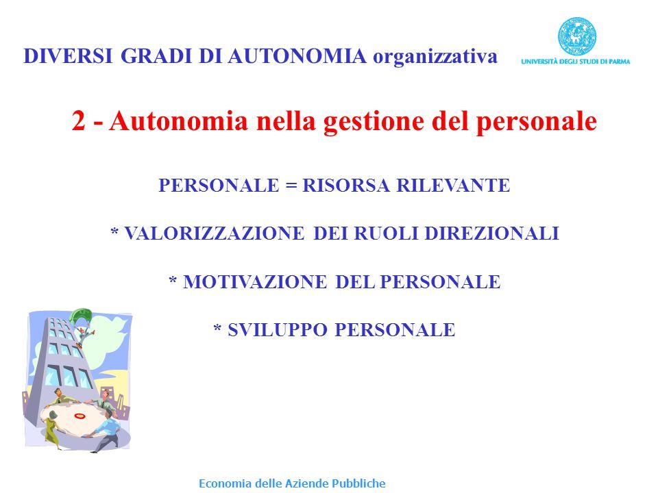 2 - Autonomia nella gestione del personale