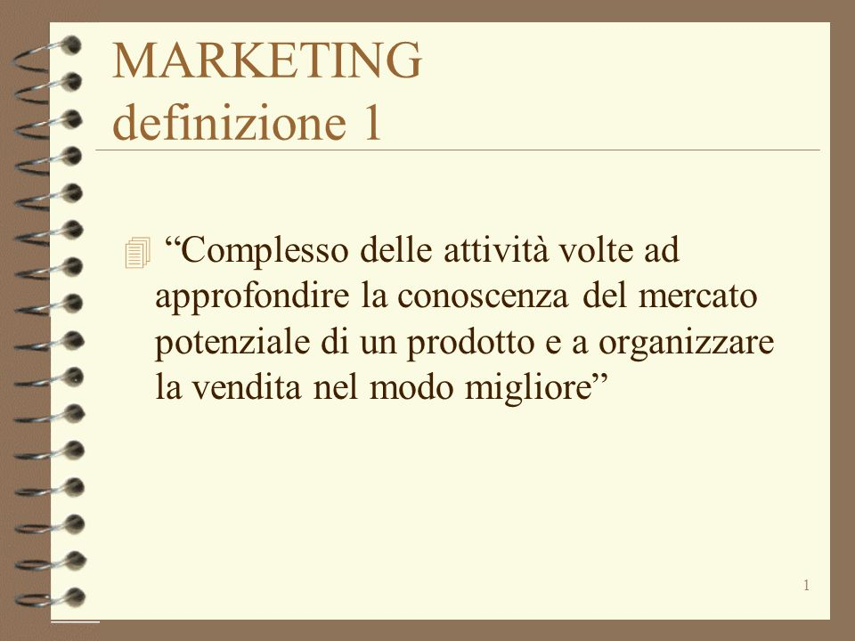 MARKETING definizione 1