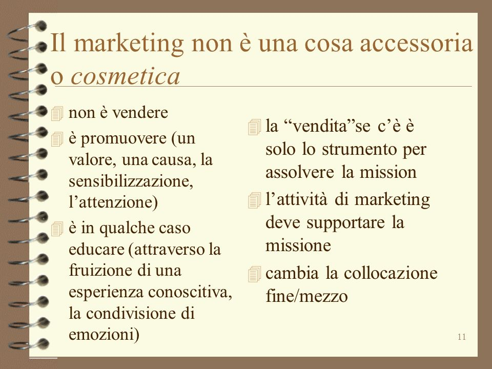 Il marketing non è una cosa accessoria o cosmetica