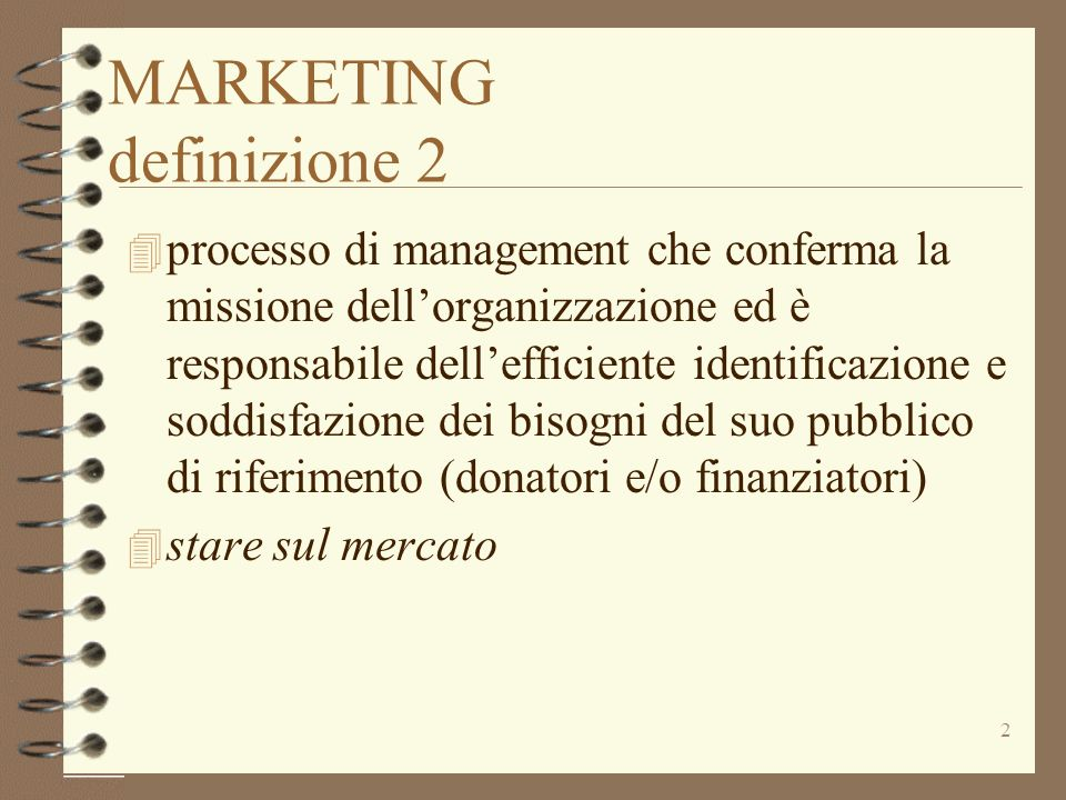 MARKETING definizione 2