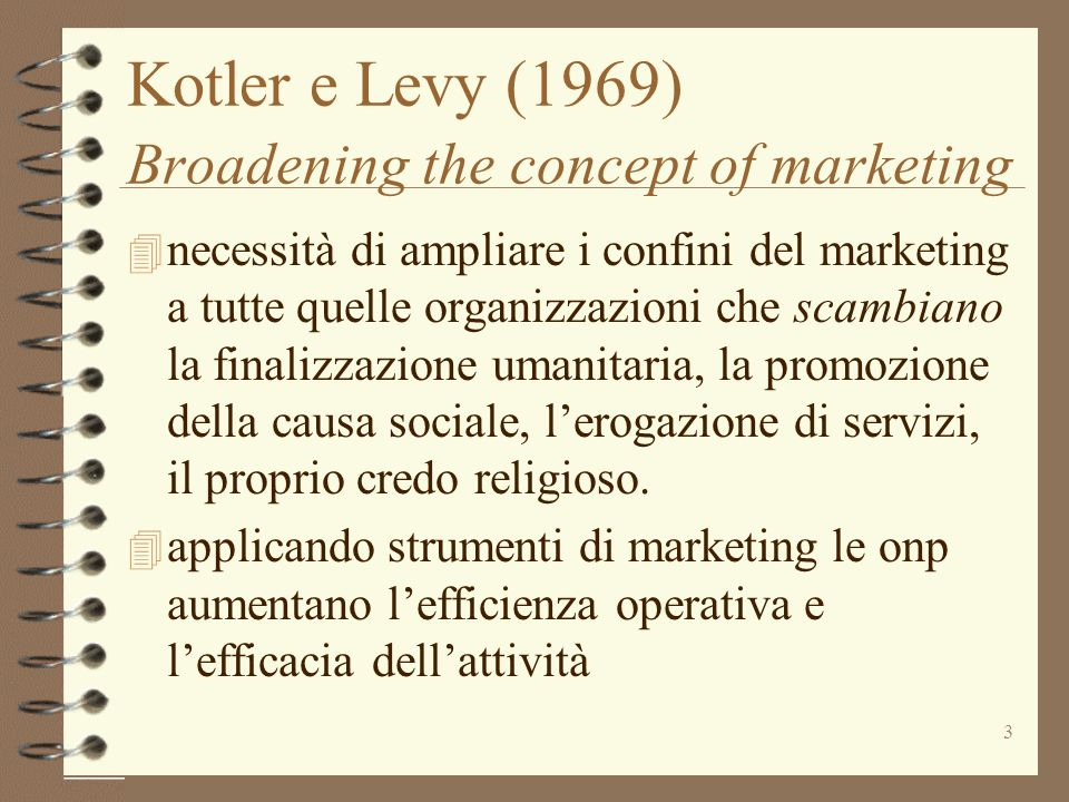 Kotler e Levy (1969) Broadening the concept of marketing