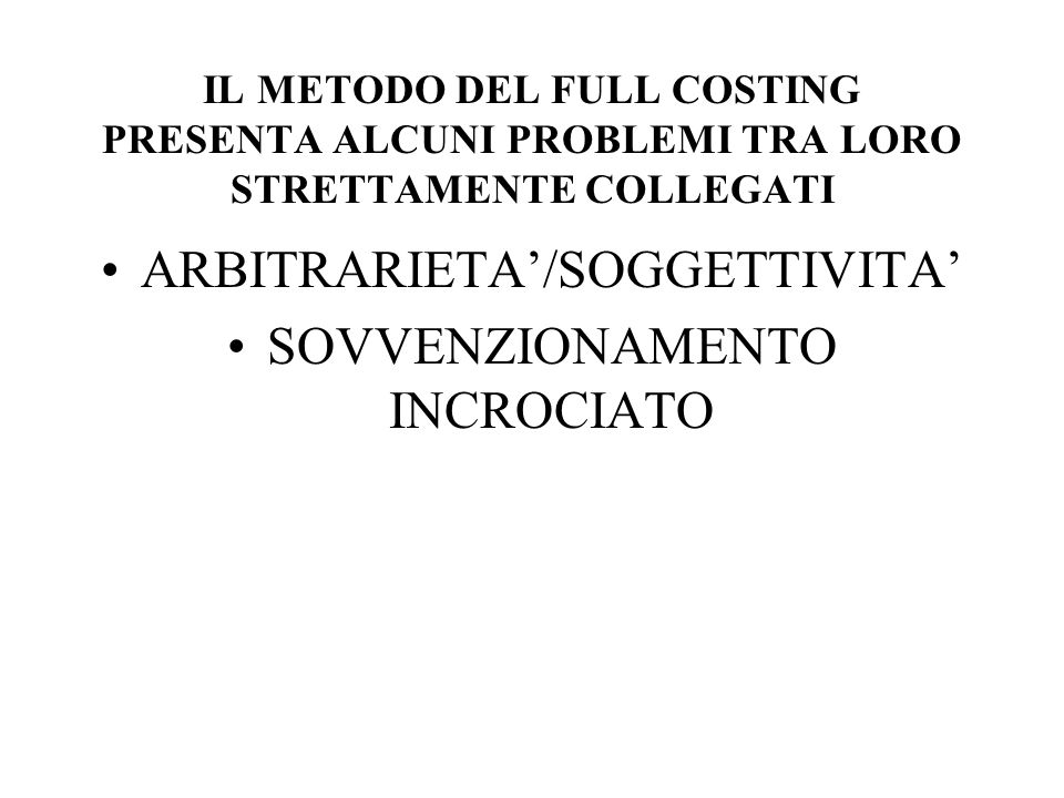 ARBITRARIETA'/SOGGETTIVITA' SOVVENZIONAMENTO INCROCIATO