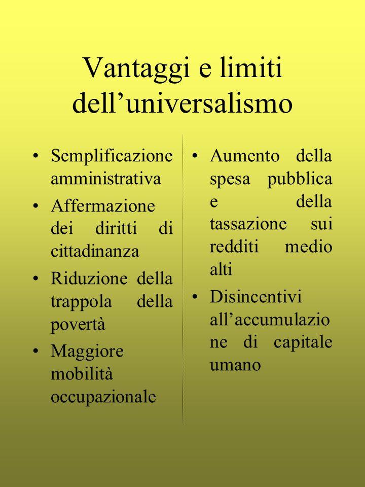 Vantaggi e limiti dell'universalismo