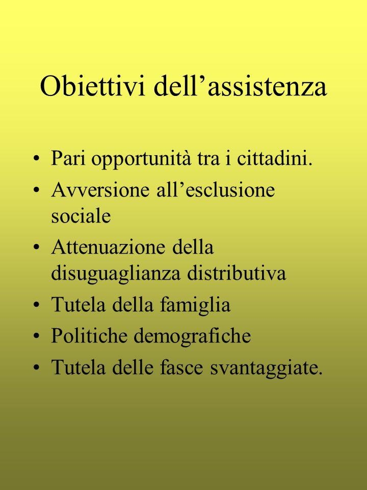 Obiettivi dell'assistenza