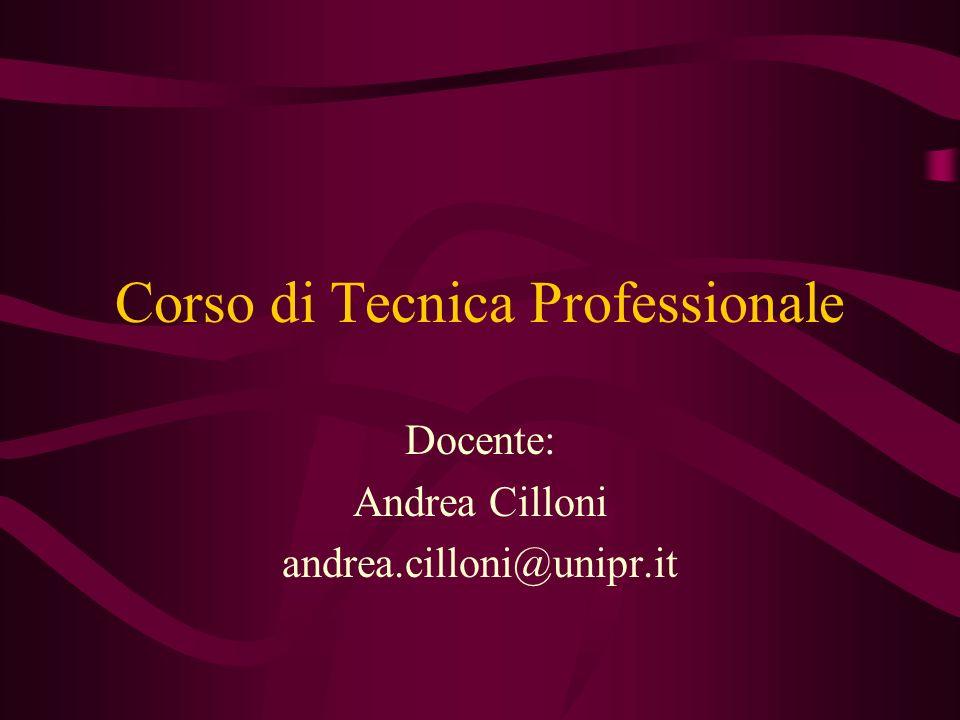 Corso di Tecnica Professionale