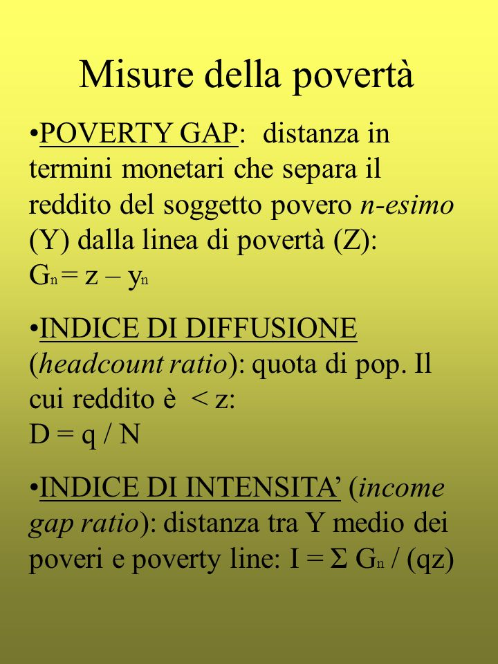 Misure della povertà