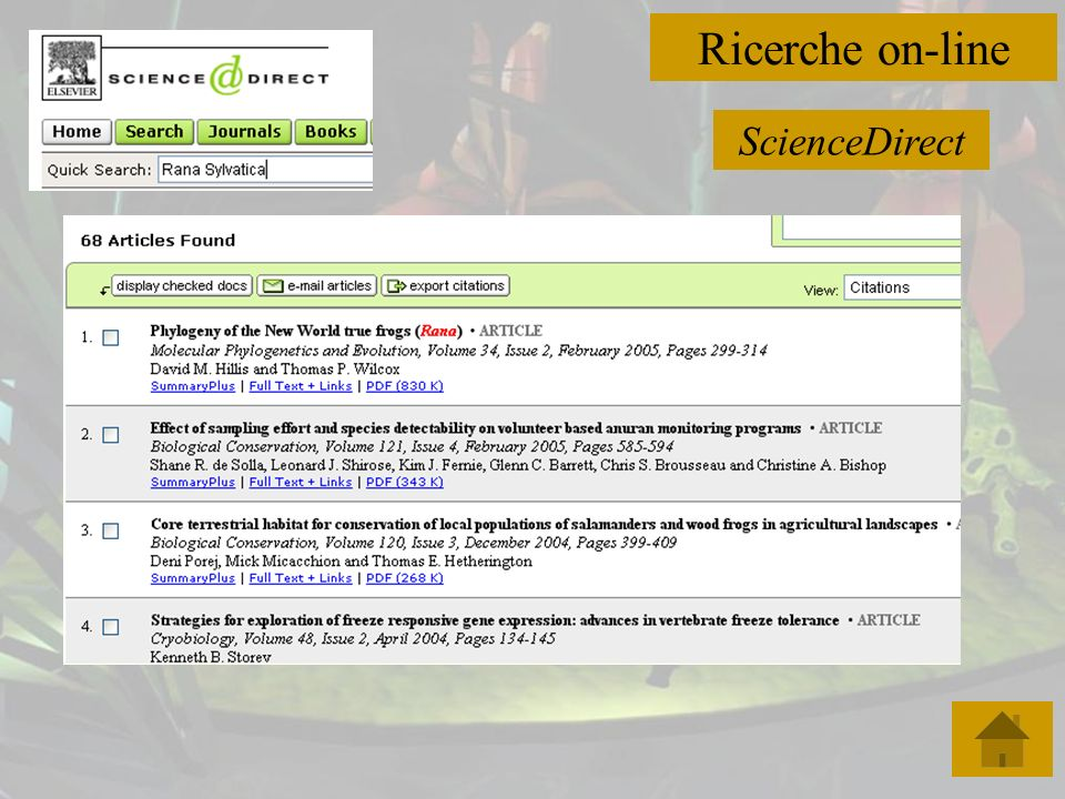 Ricerche on-line ScienceDirect
