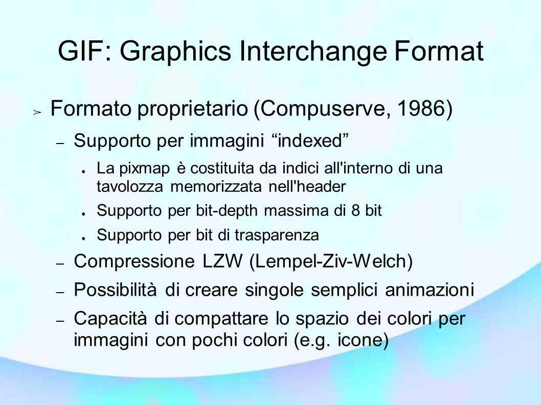 GIF: Graphics Interchange Format