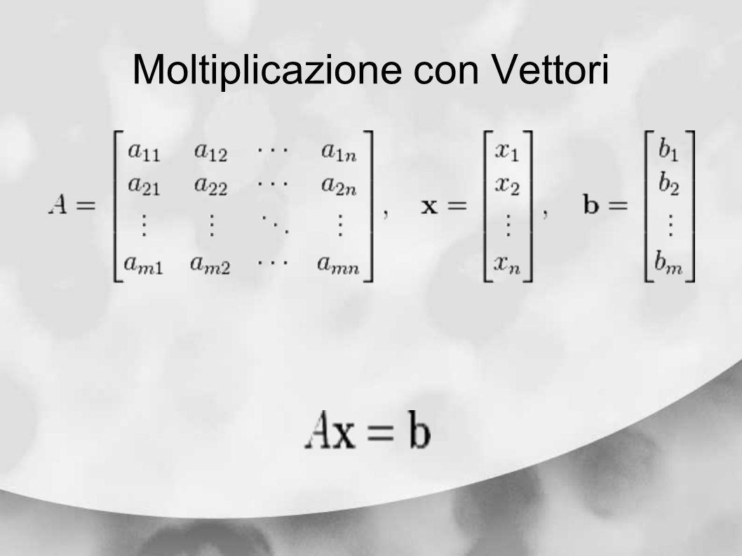 Moltiplicazione con Vettori