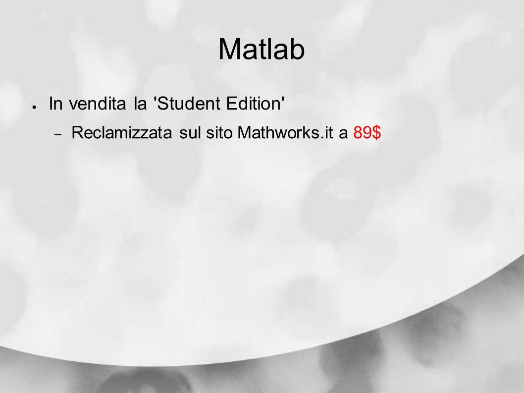 Matlab In vendita la Student Edition