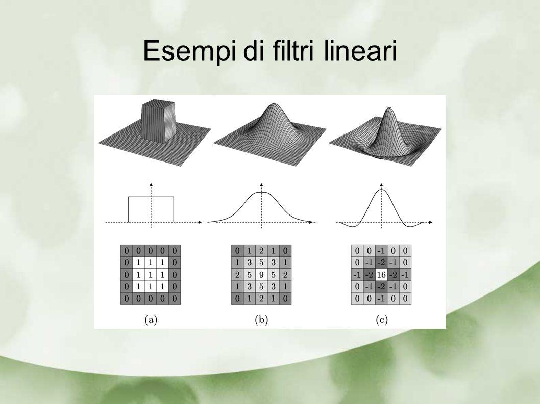 Esempi di filtri lineari