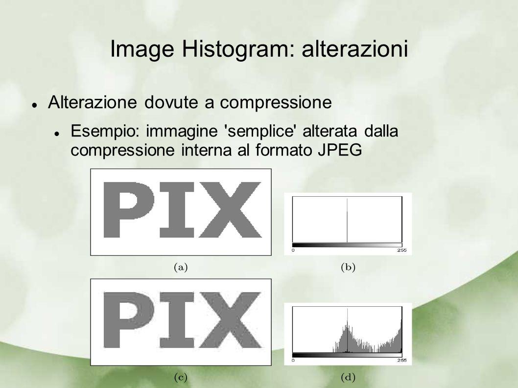 Image Histogram: alterazioni