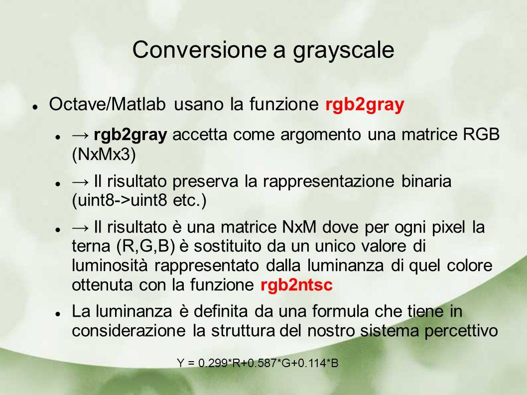 Conversione a grayscale